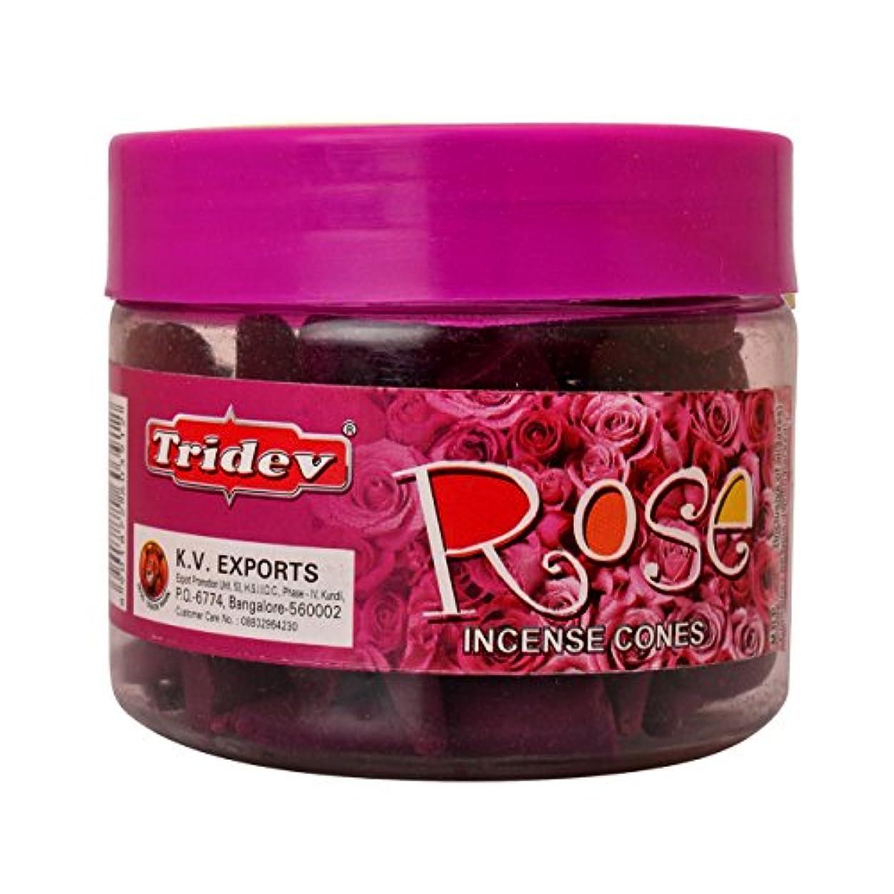 スクラッチ労働仕事に行くTridev Rose Incense Cones Jar 90グラムパック