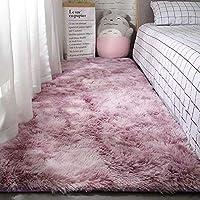 Berukon ラグ 洗える ラグマット カーペット 絨毯 多色選 滑り止め付 約60*200cm 秋冬 床暖房対応 センターラグ抗菌 四角 長方形 カーペット ワインレッド