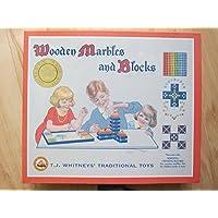 T。J。Whitney 's伝統玩具:木製ビー玉とブロック
