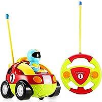 LUOYI RC Cartoon Race Car with音楽とライト電動ラジオコントロールおもちゃfor赤ちゃん幼児子供と子リモートコントロールカー