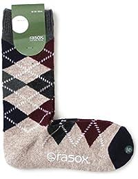 (ラソックス) rasox アーガイルウール クルー ソックス 日本製 L(26-28cm) 601_Beige CA172CR02