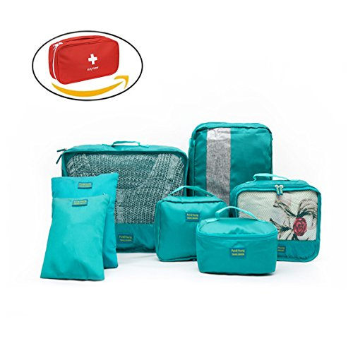 Zoyo アレンジケース トラベルポーチ バッグインバッグ 旅行 出張用 着替えの収納 薬ポーチ シューズバッグ 8点セット 軽量 防水