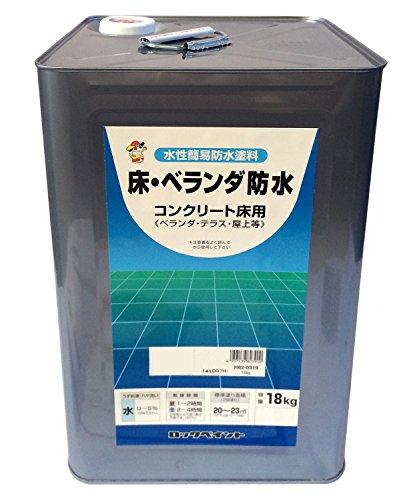 ロックペイント 水性床・ベランダ防水用塗料 グレー 18Kg H82-0319-01
