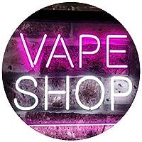 Vape Shop Indoor Display Dual LED看板 ネオンプレート サイン 標識 White & Purple 400 x 300 mm st6s43-i3018-wp
