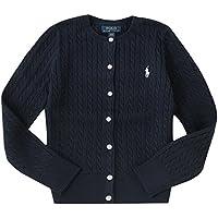 ポロ ラルフローレン キッズ ケーブルニット カーディガン Cotton tops sweater 女の子 子供服 (サイズ:M、カラー:French navy) Polo Ralph Lauren [並行輸入品]