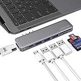 「USB C ハブ 4K HDMI出力ポート USB Type-C PD充電ポート SD/MicroSDカードスロット USB3.0ポート*3 MacBook Air 2019/2018/MacBook...」のサムネイル画像
