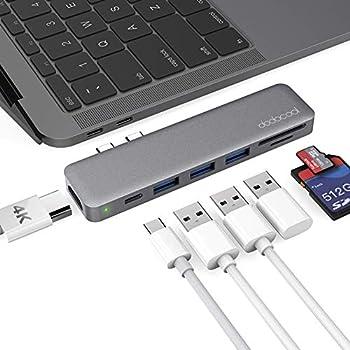 dodocool MacBook Pro ハブ 4K HDMI Thunderbolt 3 100W PD 充電 SD/MicroSDカードリーダー 3 USB3.0 MacBook Pro 2019 / 2018 / 2017 /2016 13''15''16''/ MacBook Air 2019 / 2018に対応