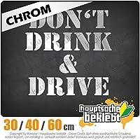 KIWISTAR - Dont drink and drive 15色 - ネオン+クロム! ステッカービニールオートバイ