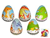 【ビニール玩具】恐竜たまごコレクション (10個入り)【パンチボール】  / お楽しみグッズ(紙風船)付きセット [おもちゃ&ホビー]