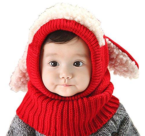 【Ludus Felix】選べるカラー 5色 ウサギちゃん 子羊 ニット帽 ニット帽子 ベビー キッズ 赤ちゃん 子供 用...