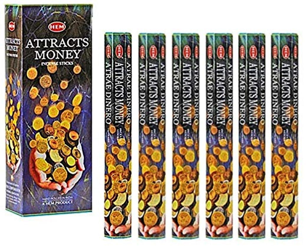 説得力のある何十人も便益HEM(ヘム)社 アトラクツマネー香 スティック ATTRACTS MONEY 6箱セット