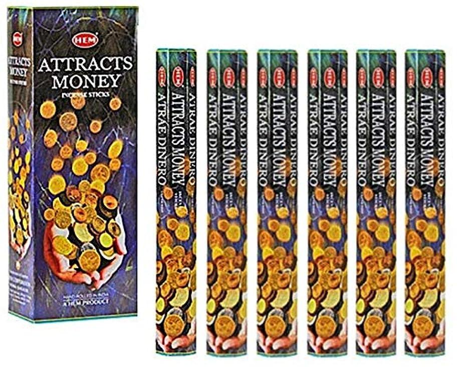 収益飾る自由HEM(ヘム)社 アトラクツマネー香 スティック ATTRACTS MONEY 6箱セット