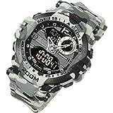 [ラドウェザー]腕時計 メンズ 200m防水 ミリタリー時計 アナログ & デジタル ウォッチ