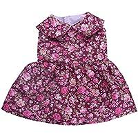 【ノーブランド品】 おしゃれ ノースリーブ  花柄 プリント  フロック  スカート  ドレス  18インチ アメリカガール人形用 5色選べる  - 2