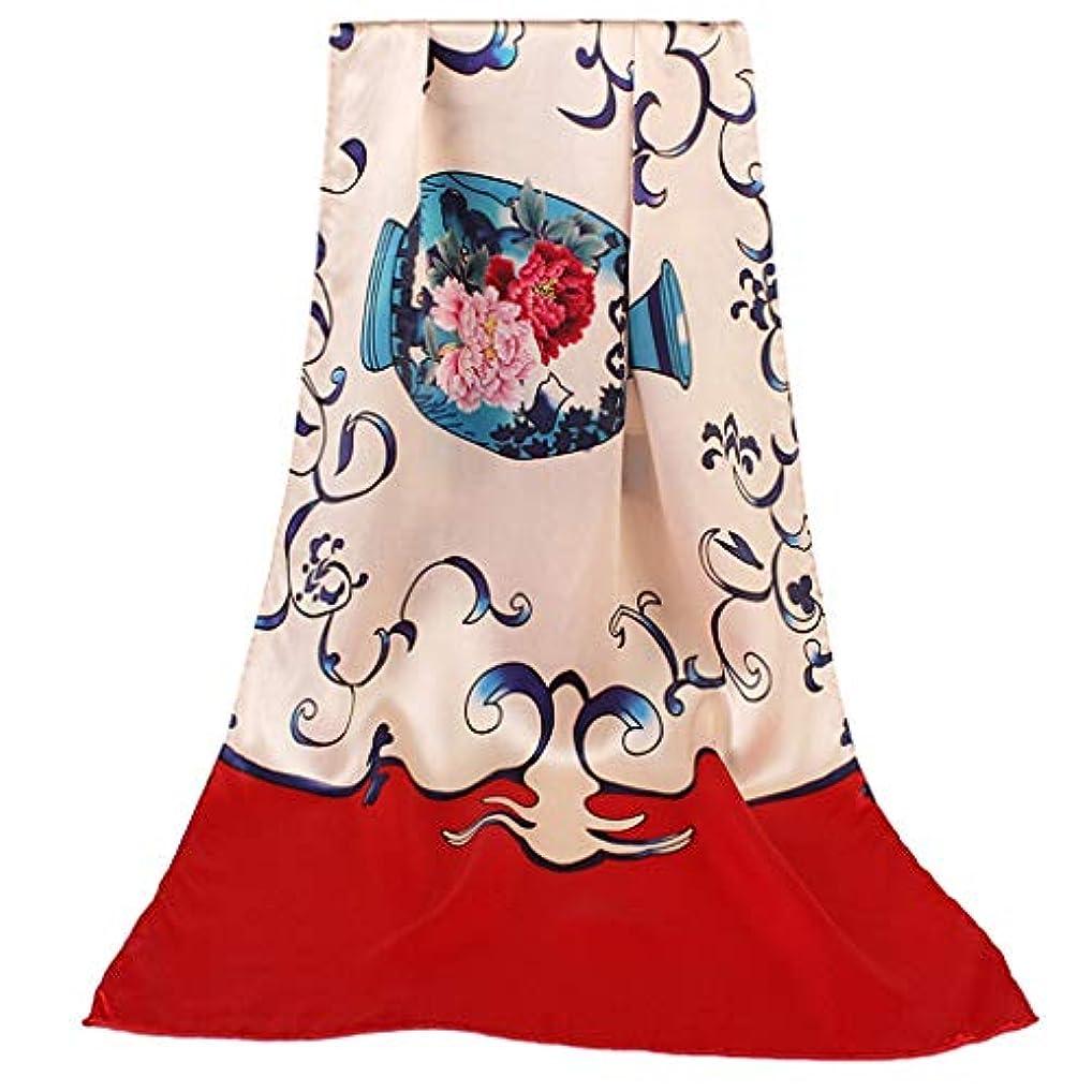 クレーター画家航海レディース春と夏マルベリーシルクプリントサンスクリーンスカーフ女性ショールマザーバレンタインギフト