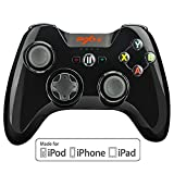 iPhone コントローラー Apple認証 IOS Bluetooth MFi ゲームパッド iPhone, iPad, iPod touch, apple TV対応 (黒)