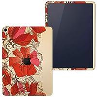 igsticker iPad Pro 11 inch インチ 対応 apple iPad Pro11 シール アップル アイパッド A1934 A1979 A1980 A2013 iPadPro11 全面スキンシール フル 背面 側面 正面 液晶 タブレットケース ステッカー タブレット 保護シール 人気 花 イラスト 赤 005218