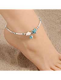 Sumanee Boho Women Shell Starfish Anklet Sandal Bracelet Foot Chain Bead Anklets Jewelry