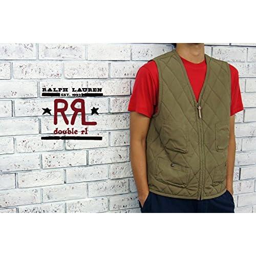 (ラルフローレンダブルアールエル) ralph lauren RRL キルティング ベスト/OLIVE XL [並行輸入品]