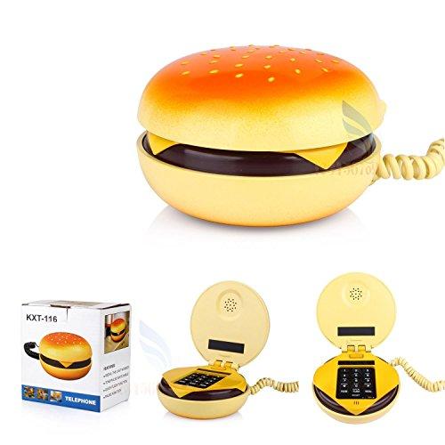 [해외]EFORCAR (TM) 귀여운 폰 전화 홈 데스크톱 끈 모양의 햄버거 전화기/EFORCAR (TM) cute phone phone home desktop string-shaped hamburger telephone