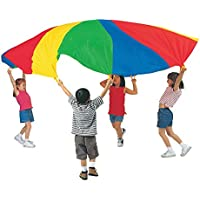 Pacific Play Tents Kids 20足パラシュートwith Carryバッグ、ハンドルなし