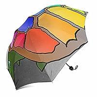 dingshanlong UniqueカスタムAuto Open折りたたみ式傘防風ポリエステルトラベル傘