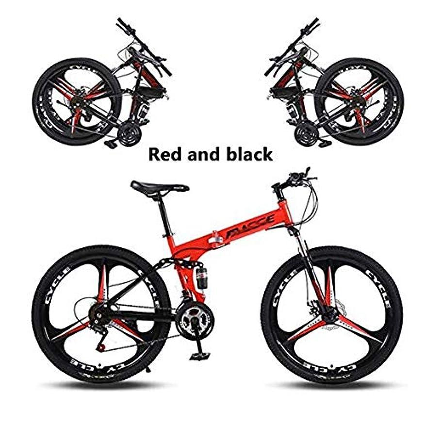 キネマティクス危険を冒します沈黙24インチマウンテントレイルバイク高炭素鋼デュアルディスクブレーキ折りたたみアウトロード自転車21スピード、24スピード、27スピード、ユニセックス大人