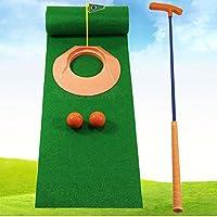 WENZHE ゴルフマットパターマット ゴルフマットパターマット フルショットマット 練習器具クラブ 屋内 アウトドア 子供たち セット、 25 * 250cm