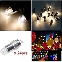 LED 豆電球 PChero装飾用 led電球 風船に取り付け可能 LEDライト LEDランプ お祭り イベント 結婚式 風船 など用電球「24個」「ウォームホワイト」