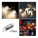 LED 豆電球、PChero装飾用 led電球、風船に取り付け可能 LEDライト、LEDランプ、お祭り 、イベント 、結婚式、風船 など用電球「24個」「ウォームホワイト」