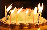 パーティー用品クリエイティブマジックカラースレッド誕生日キャンドル安全キャンドル(10個/ボックス)