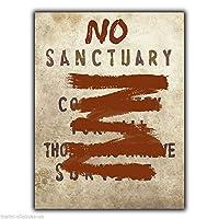 PotteLove No Sanctuary for All Community Terminus Walking Dead メタルサイン壁飾り額