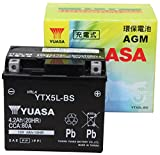 【Amazon.co.jp限定】 TAIWAN YUASA 【台湾ユアサ】正規品 AGM-バイク用バッテリー クロス付 YTX5L-BS