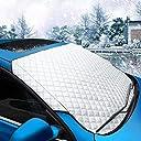 MATCC カーフロントカバー フロントガラス 207 102cm 雪対策 凍結防止カバー 凍結防止シート 車用サンシェード 四季用 霜よけ 落葉対策 紫外線対策 防水 SUV車/普通車に適用
