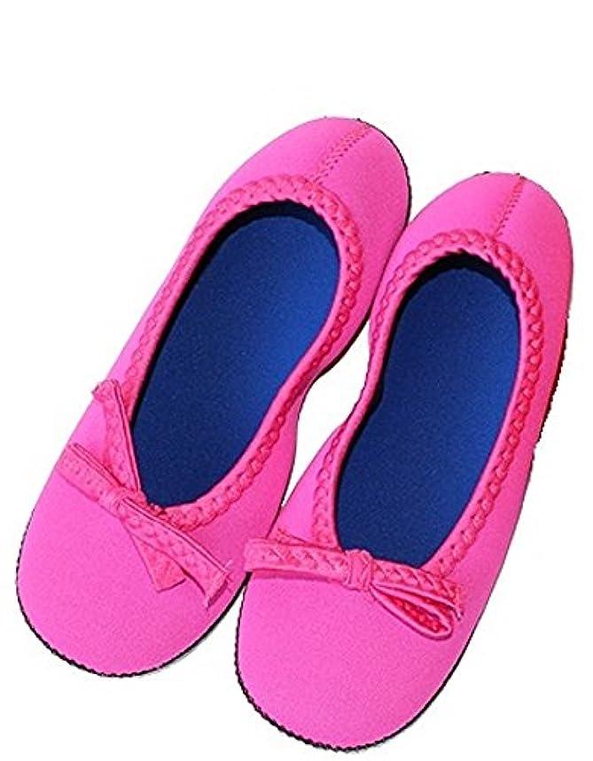 鮮やかなパドル印象クロッツルームシューズ デラックス ピンク XL