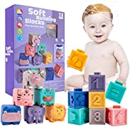 let's make 12 Pcs Baby Toy, Bath Play, Baby Balls, Soft Sound Toy, Animal, Numbers, Puzzle, Shape, Insect,