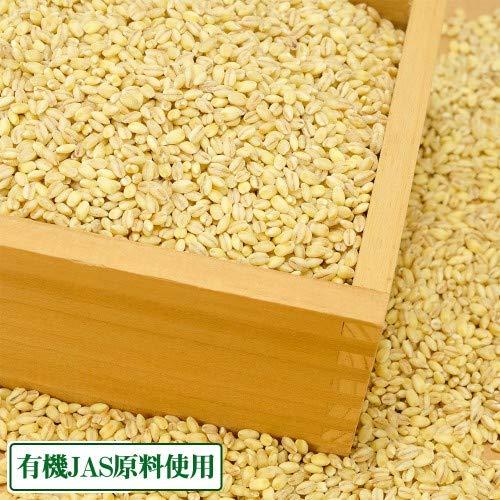 もち麦(精麦) 300g×8袋 有機JAS原料 (島根県 有機ファーム研久屋) ふるさと21