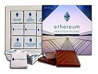 DAチョコレートお土産キャンディー ETHEREUMチョコレートギフトセット Cryptocurrencyデザイン13x13cm 1箱 (超高層ビル)