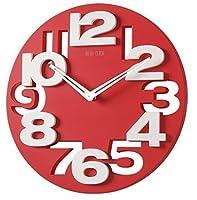 GMMHの静かな浴室の時計8808 3Dの設計現代壁掛け時計の壁掛け時計のオフィス用時計(赤白)