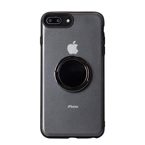 BEGALO iPhone8 Plus/7 Plus ハンドスピナー 指スピナー バンカーリング付 ケース 落下防止 360度回転 スタンド ストレス解消 クリア HDSP-IP8P-CLR140