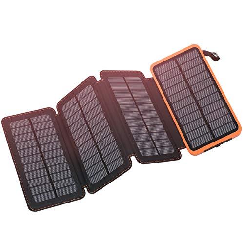 FEELLE ソーラーチャージャー 20000mAh ポータブルパワーバンク IPX6防水 携帯充 電器 太陽光で充電可能 持ち運び便利 地震/災害/旅行/出張/アウトドア活動などの必携品 クiPhone, iPad, Samsung