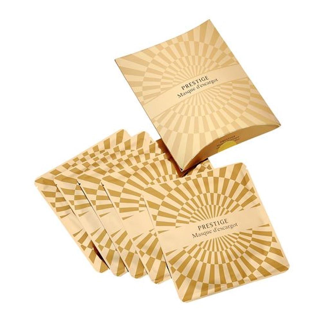 薄い安全木材It's skin(イッツスキン) かたつむり成分配合 プレステージ マスク エスカルゴ しわ改善 25g×5