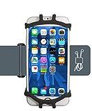 スポーツアームバンドIcefrog 6インチまでのiPhone/Androidスマホに対応 アームバンドケース防水/防汗/調節可能 収納ポケット付(ブラック)