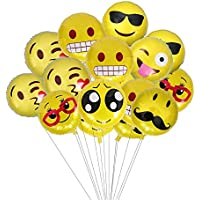 文字風船 HAPPY BIRTHDAY 18インチ顔文字 誕生日とパーティー飾り用バルーン 12個セット