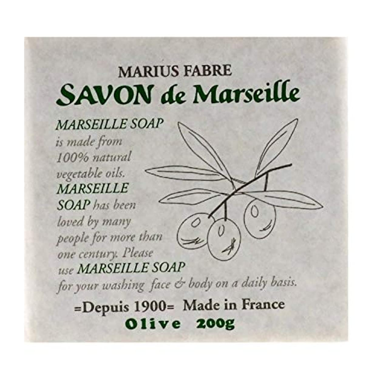 後品軍隊サボンドマルセイユ 無香料 オリーブ 200g