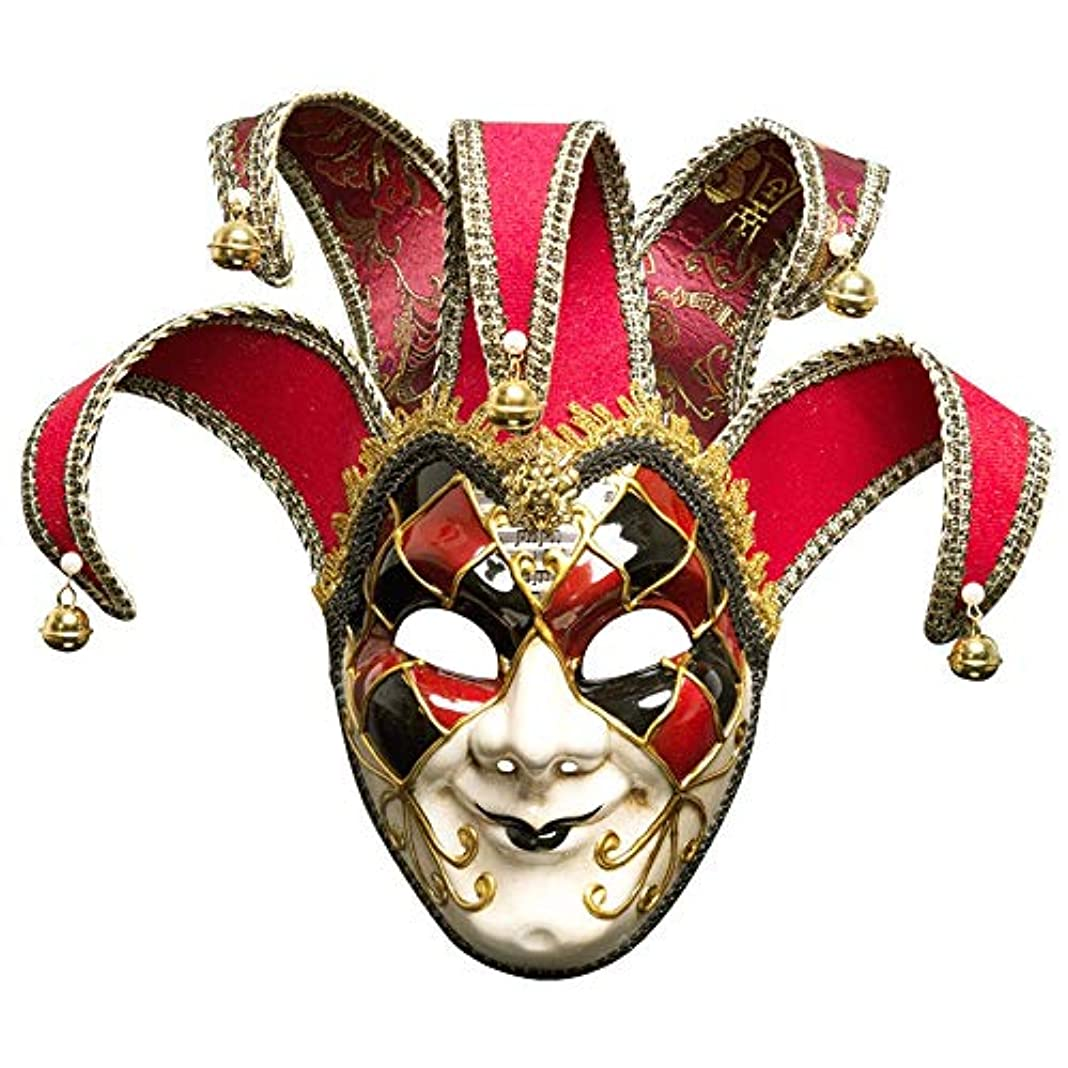 実験パースブラックボロウ本質的ではないダンスマスク 雰囲気クリスマスフェスティバルロールプレイングプラスチックマスカレードマスクハロウィーンマスカレードマスク ホリデーパーティー用品 (色 : 赤, サイズ : 17x44cm)