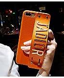 [JADIOR] iphone8 ケース iphone7 / plus カバー 指紋防止 PUレザー 薄型 軽量 落下防止 おしゃれ 選べるカラー 耐衝撃 (iphone7/8plus, 茶)