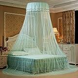 蚊帳 吊り下げ 天蓋 ベッド カーテン プリンセス お姫様 ロパンチック 虫除けに おしゃれ  (ライトグリーン)