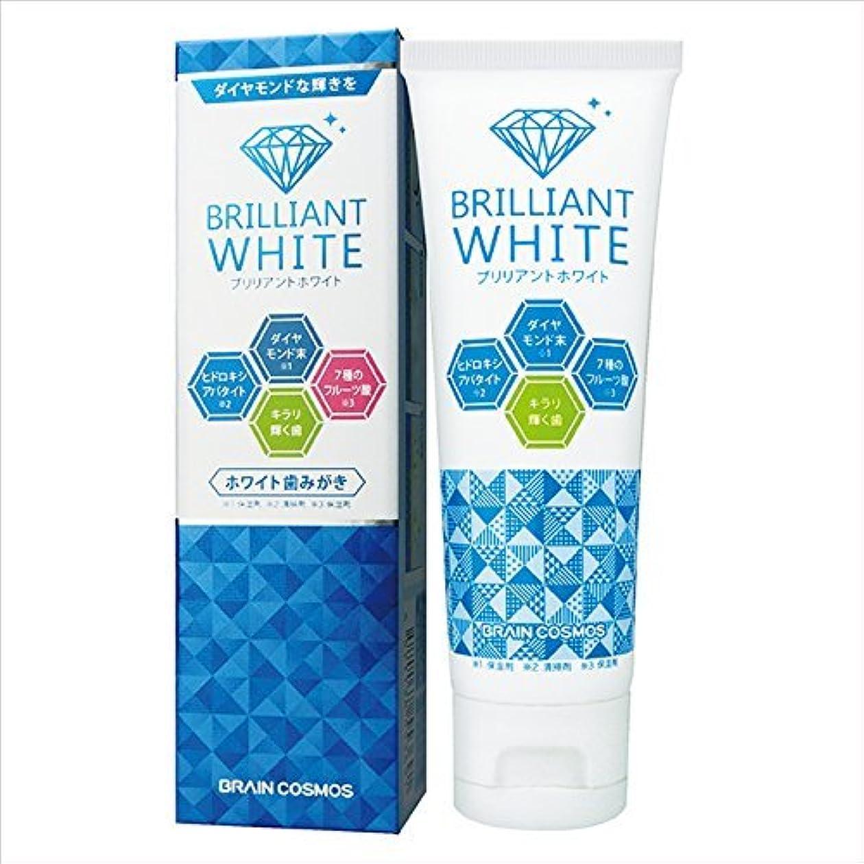 適用済みサービス有害2本セット ブリリアントホワイト ホワイト歯みがき 100g