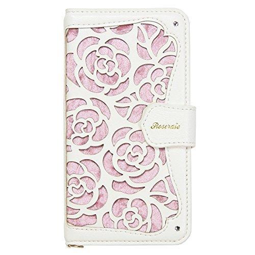 Natural Design La Roseraie 4.7インチ対応 【iPhone 8/7】 ピンク (カードポケット&チャームストラップ付)の詳細を見る